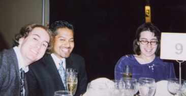 Atul, Jill, and Me at Table 9 at the Wedding!