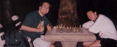 Kristine and I Play Chess in Central Park!