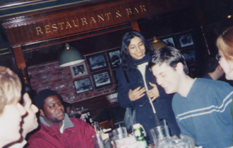 Chris and Nabeela Finally Arrive at My Birthday Party at Uno's... (2/28-01)