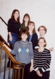 Me, Emily, Mom, and Aunt Tina and Cousins Karli and Kelsey from Thanksgiving 2001.