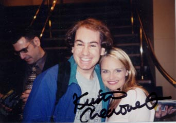Me and Kristin Chenoweth! (Yes, It's Autographed!)