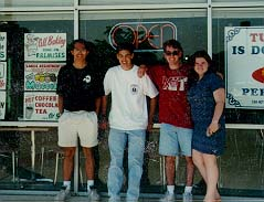 My Out to Lunch Group Senior Year - Crinnie, Eric, Dave, and Me!