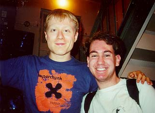 Anthony Rapp and Me After You're A Good Man, Charlie Brown!