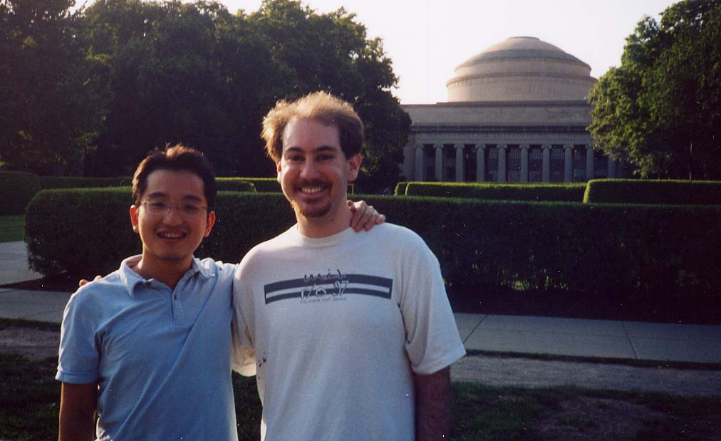 Me and Kevin in Front of MIT (July 4th, 2002)!