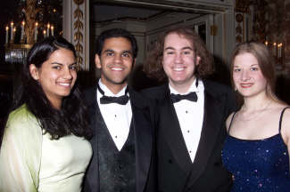 Melinda, Yamini, Samidh and Me at the Senior Ball!